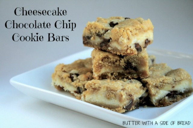 Cheesecake Chocolate Chip Cookie Bars | Food Food and More Food | Pin ...