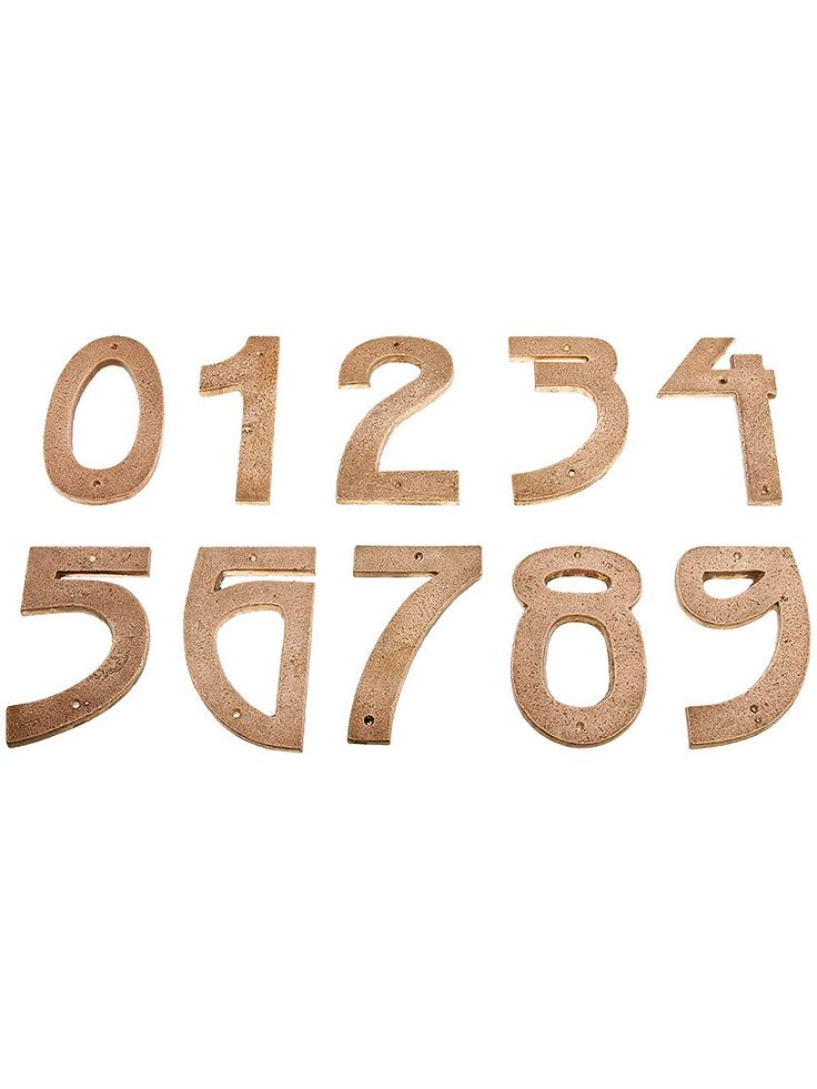 5 tumbled copper arts and crafts house numbers with. Black Bedroom Furniture Sets. Home Design Ideas