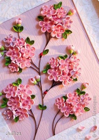 Picture, pictures, graphic Quilling: Sakura Paper strips. Photo 2 Craft Ideas Pinterest Kviling technika, Grafika a Ceresnove kv