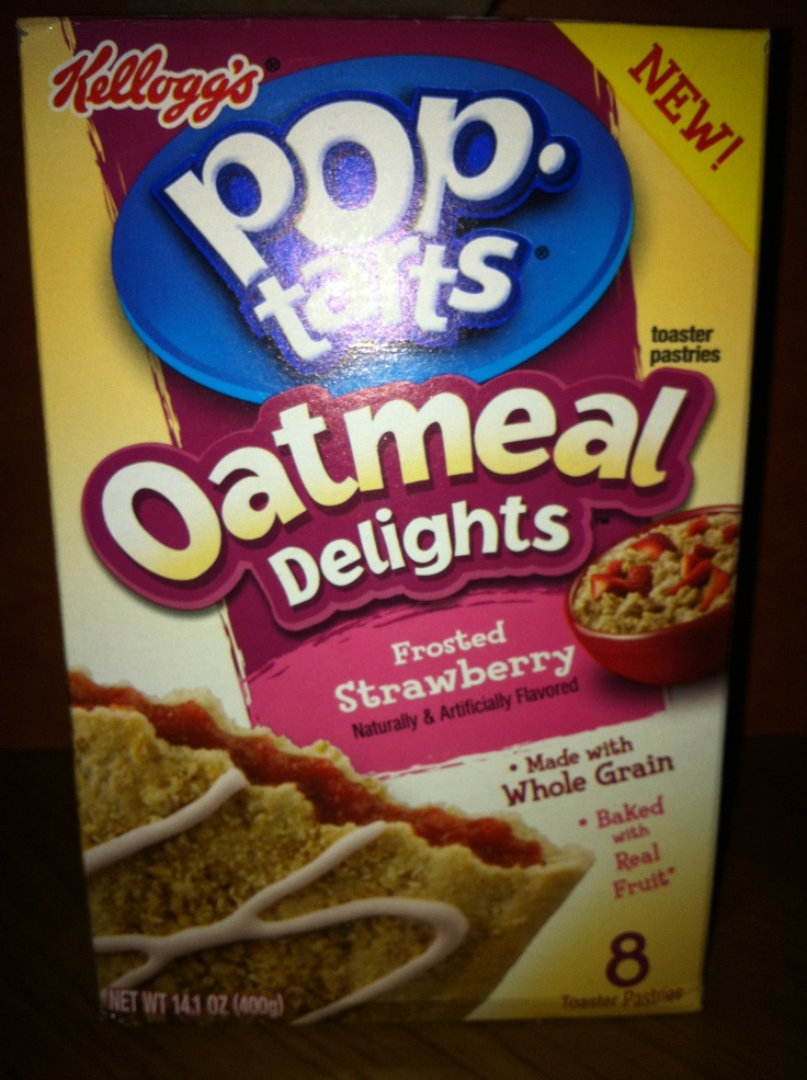 Kellogg's pop-tarts Oatmeal Delights frosted strawberry