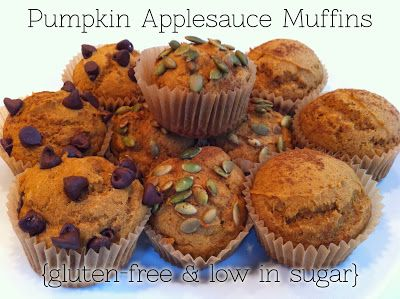 Pumpkin Applesauce Muffins (use 1/2 whole wheat and 1/2 white flour)