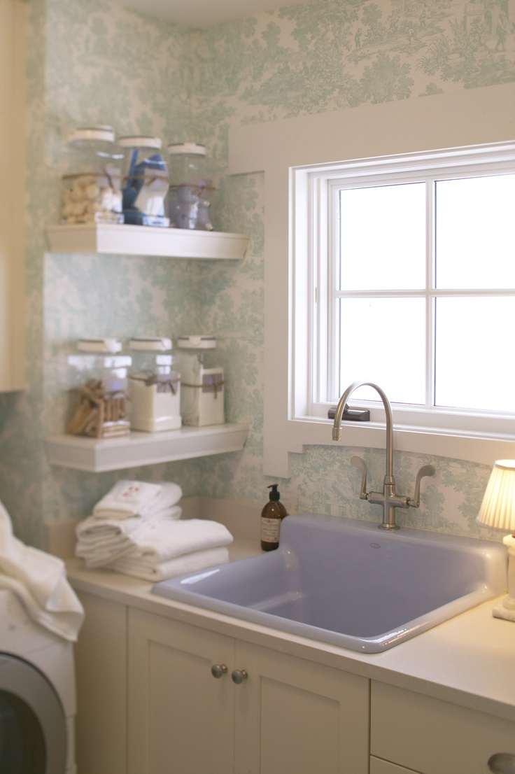 Deep Sinks For Laundry Rooms : Lavender sink in the laundry room. MudRooms and Laundry Rooms Pin ...