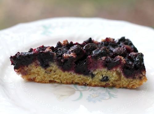Less Processed Life: What's Baking: Blueberry Nutmeg Cake