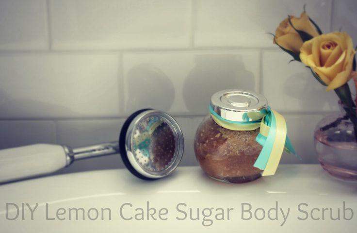 DIY Lemon Cake Body Scrub- a recipe - many years ago Victoria Secret ...