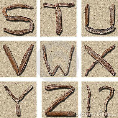 Seamless Tiling Driftwood Alphabet S - Z | Wedding DIY ideas | Pinter ...