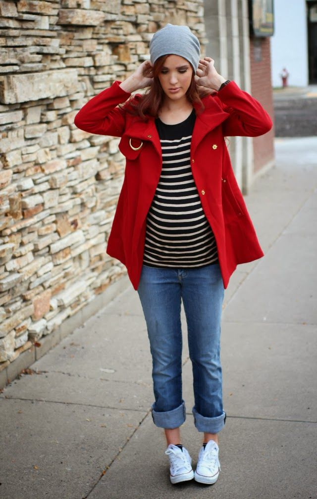 The Freckled Fox : Maternity Style // Comfy Hats and Stripes