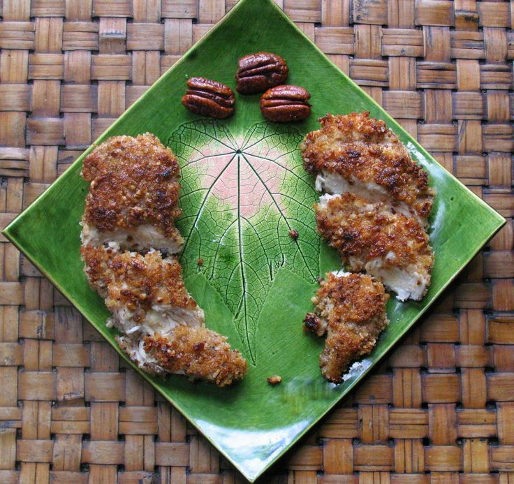 Inspiration -- Mustard Pecan Crusted Chicken with Maple Glaze -- but ...