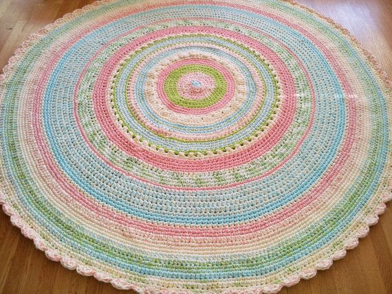 Custom made laurie 39 s perfect pastel nursery rug 6 feet for Custom made area rugs