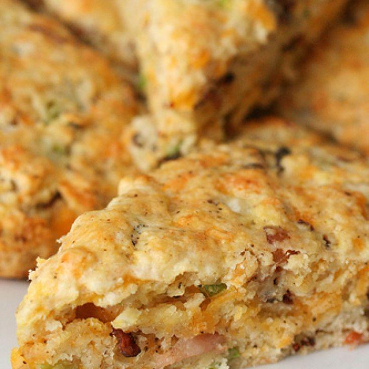 Bacon Cheddar Scones Recipe | Just A Pinch Recipes