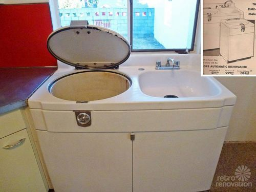 Washer Sink Combo : 1955 mid-century modern house time capsule ? just 1,300 s.f., but ...