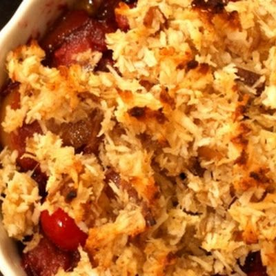 apple cranberry crumble | eating paleo | Pinterest