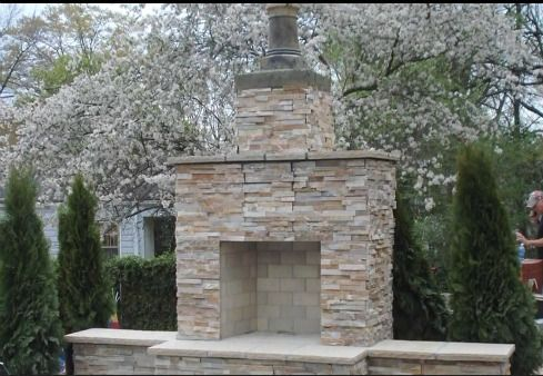 building an outdoor fireplace for the home pinterest