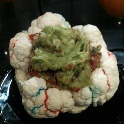 Halloween Brain Dip   Braaaaaaains! A head of cauliflower makes a ...