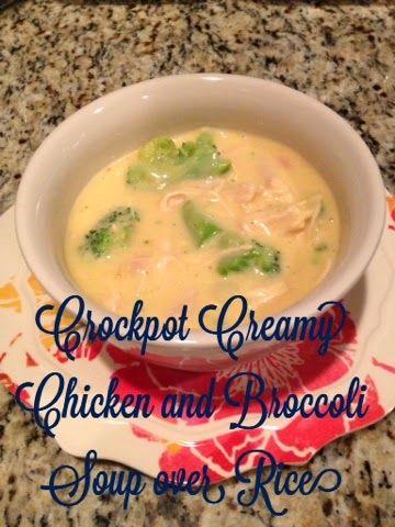 Stilettos & Sass: Crockpot Creamy Chicken and Broccoli Soup over Rice