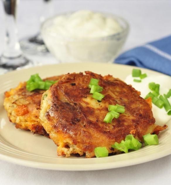 Bacon Cheddar Patty Cakes Recipe — Dishmaps