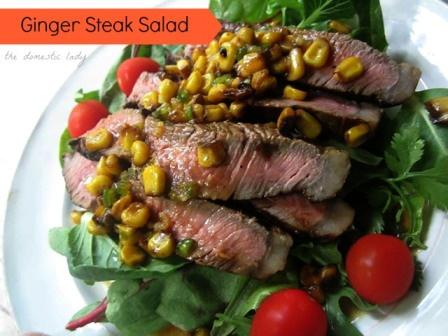 Ginger STeak salad | Deliciousness | Pinterest