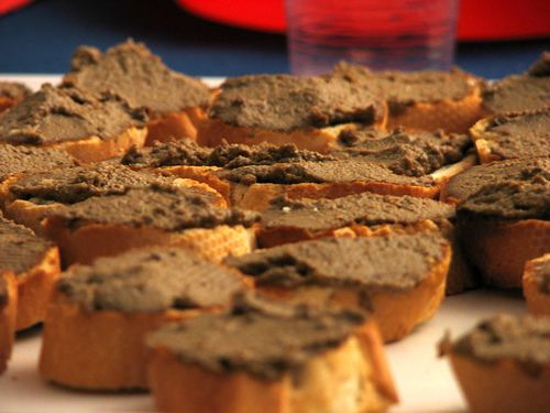 crostini toscani (can we please do one with a pate too?? i LOVE pate!)