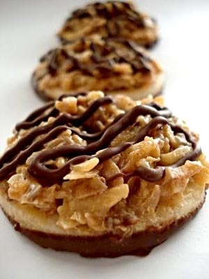 homemade samoas... now, can I lower the fat/calories in these ...