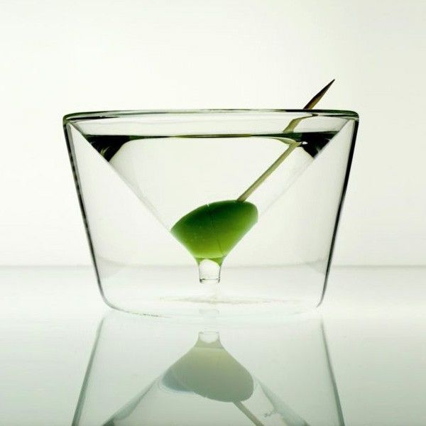 Inside out martini glass
