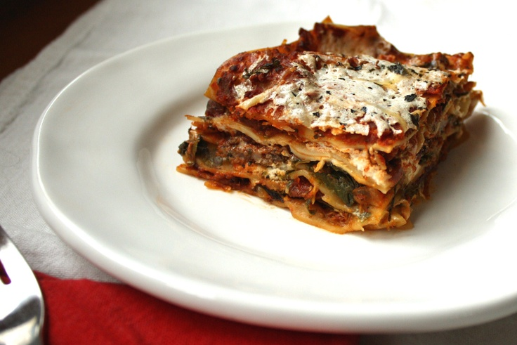 sausage & swiss chard lasagna | Sausage recipes | Pinterest