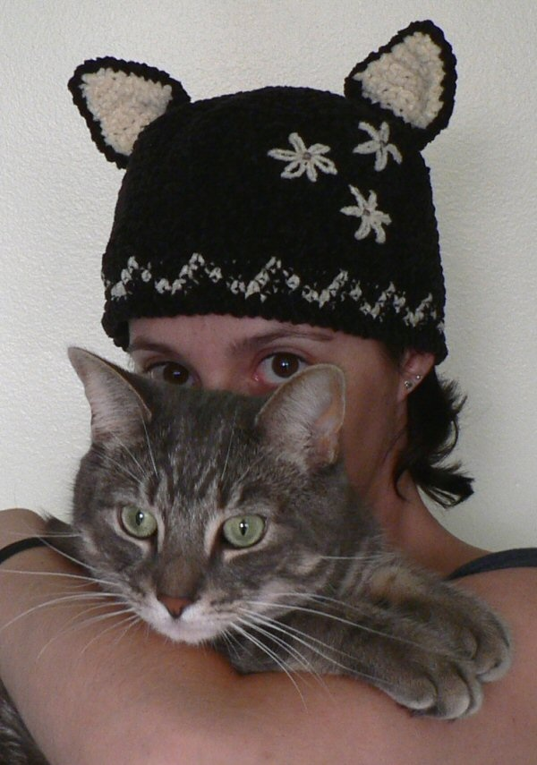 Crocheting For Cats : crocheted cat hat Stitchery Pinterest