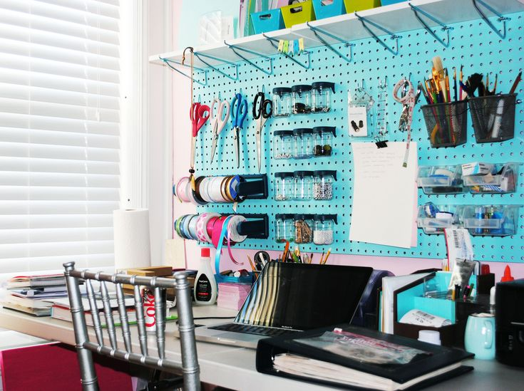 Pegboard Craft Room Organization Idea 736 x 549