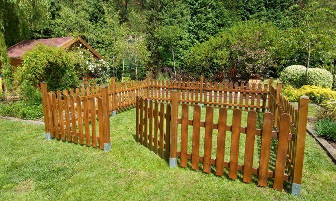 Cercado de madera for Barda de madera para jardin