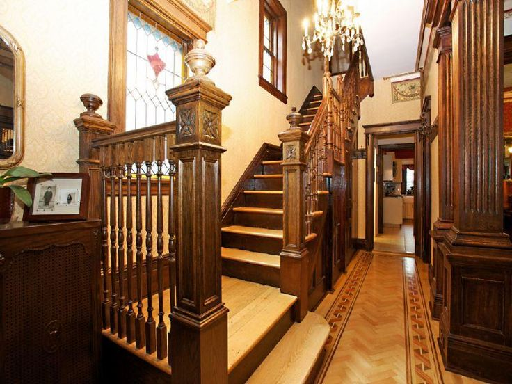 Victorian Style Foyer : Victorian interior foyer staircase