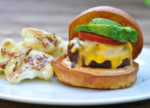 buffalo burgers with chipotle mayonnaise | Burger Board | Pinterest