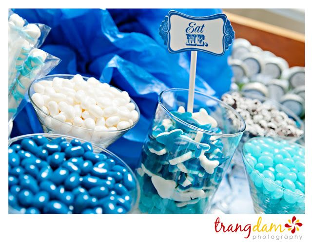blue candy table for baby shower for my future kids