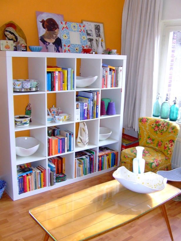 Don't forget the tops of bookshelves or cabinets when accessorizing.