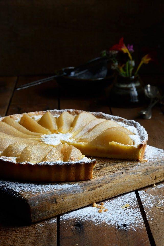 pear and almond frangipane tart | Fun Foods | Pinterest