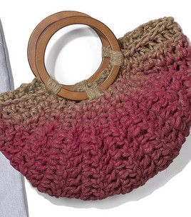 CROCHETED FREE HANDLE KNITTED PATTERN PURSE | CROCHET PATTERNS