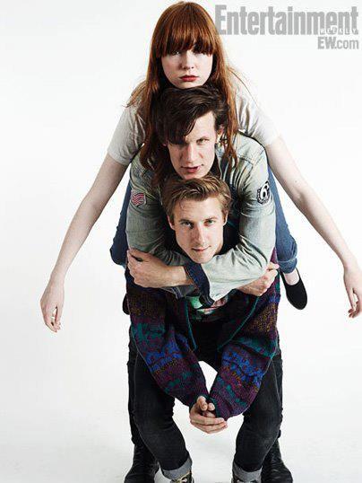 Arthur, Matt and Karen being...Arthur, Matt and Karen. #DoctorWho