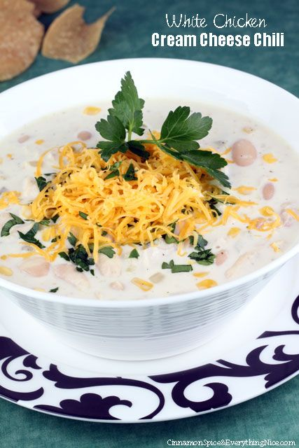 White Chicken Cream Cheese Chili | Recipe