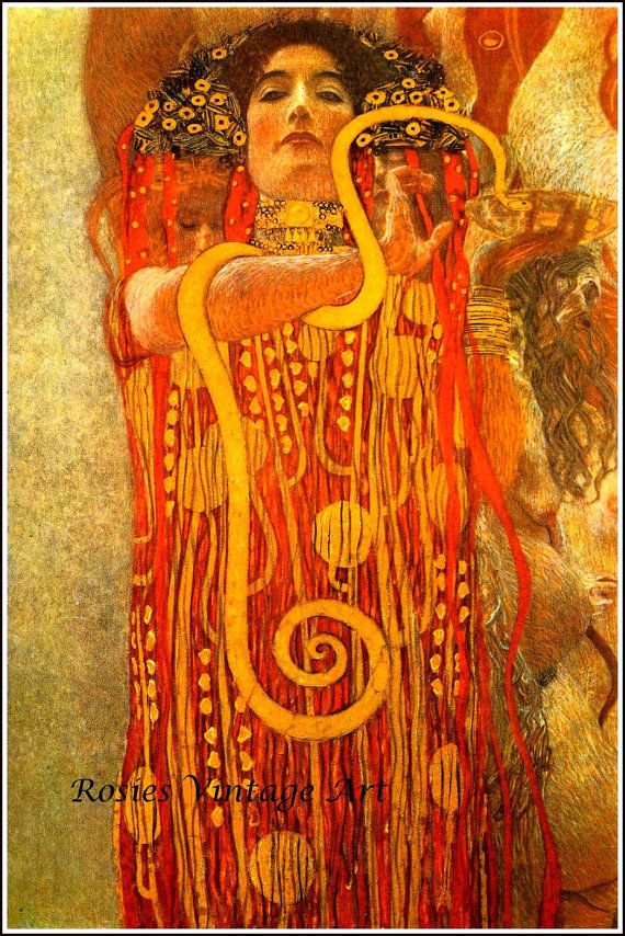 Hygeia Detail from Medicine Gustav Klimt 1907 - Tru Giclee Art Print ...