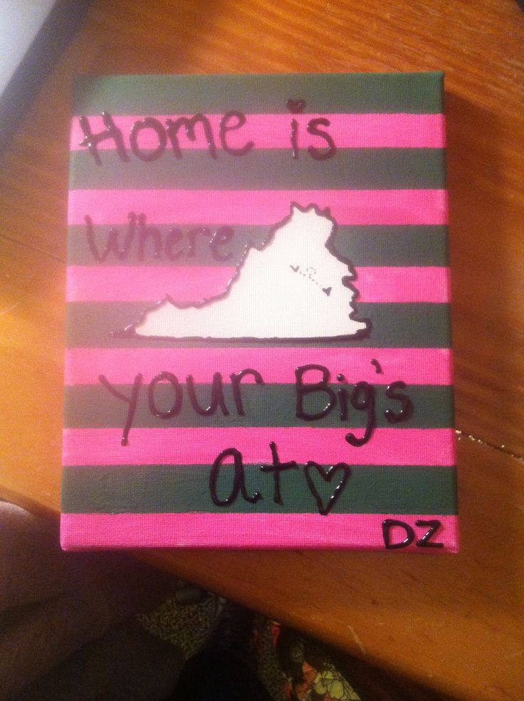 Sorority crafts for winter break something greek home is where your bigs at a heart on where your little lives and a solutioingenieria Gallery
