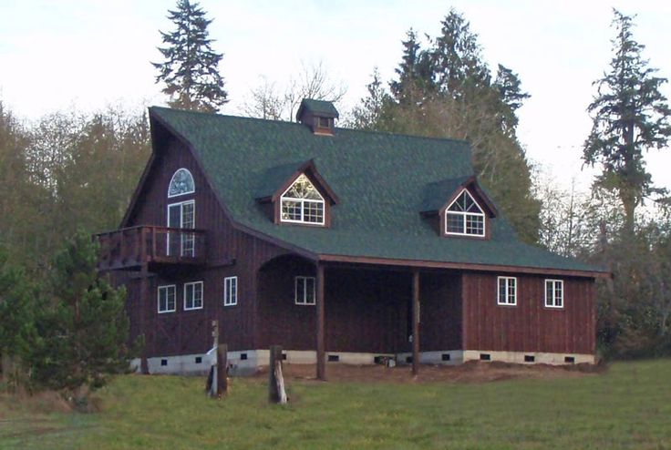 Brown siding w green roof house exterior colors pinterest - Brown house with green roof ...