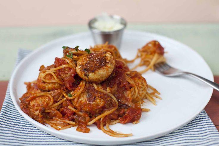 Spaghetti and turkey meatballs | Dinner | Pinterest