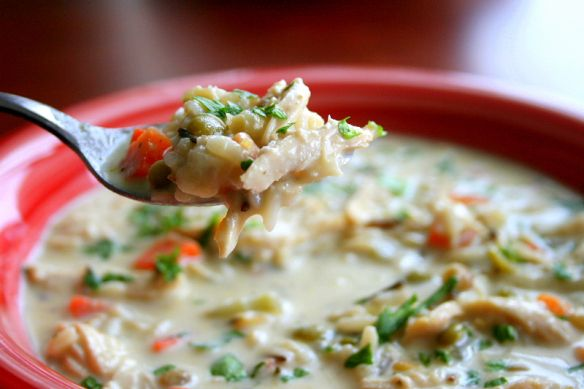 Creamy Chicken & Wild Rice Soup | Hungry Hannah