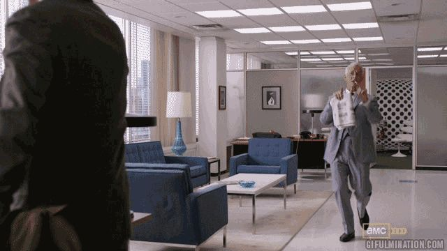 The very much anticipated Frère Jacques dance by Roger Sterling. (gifulmination)