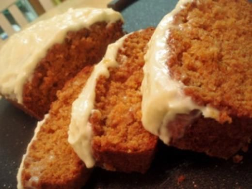 Cream Cheese Frosted Carrot Loaf