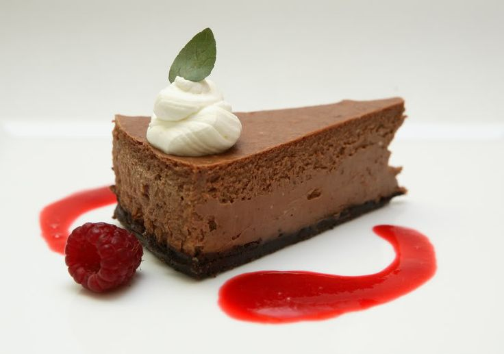 99% Cacao Dark Chocolate: Mint Chocolate Cheesecake