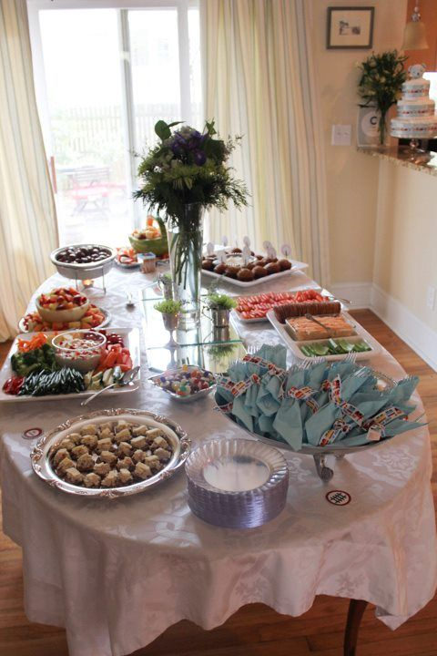 baby shower food table train baby boy shower pinterest