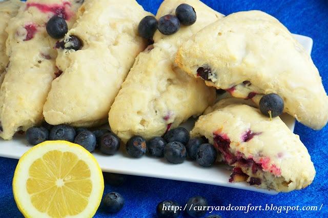 Blueberry Scones with Lemon Glaze | Baking stuff | Pinterest