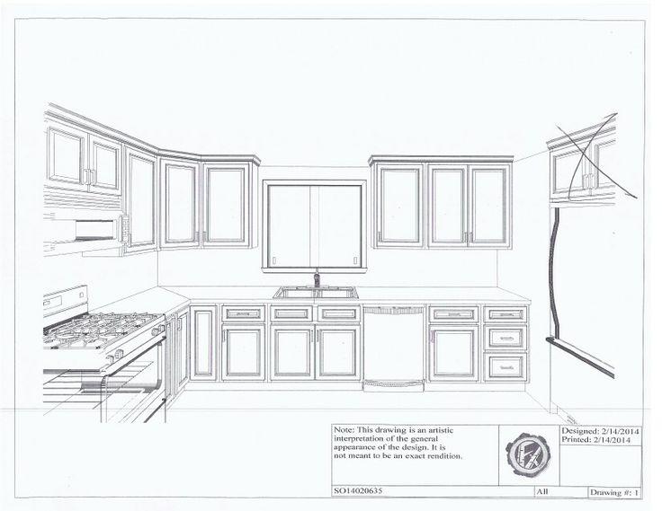 Kitchen elevation cabinet plans home remodel pinterest for Kitchen cabinets elevation