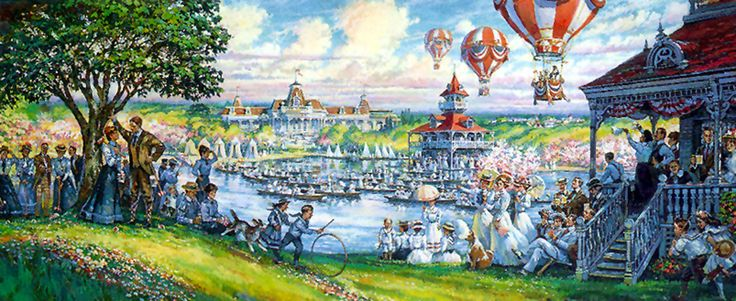 Main street u s a hub redevelopment at the magic kingdom for Disneyland mural