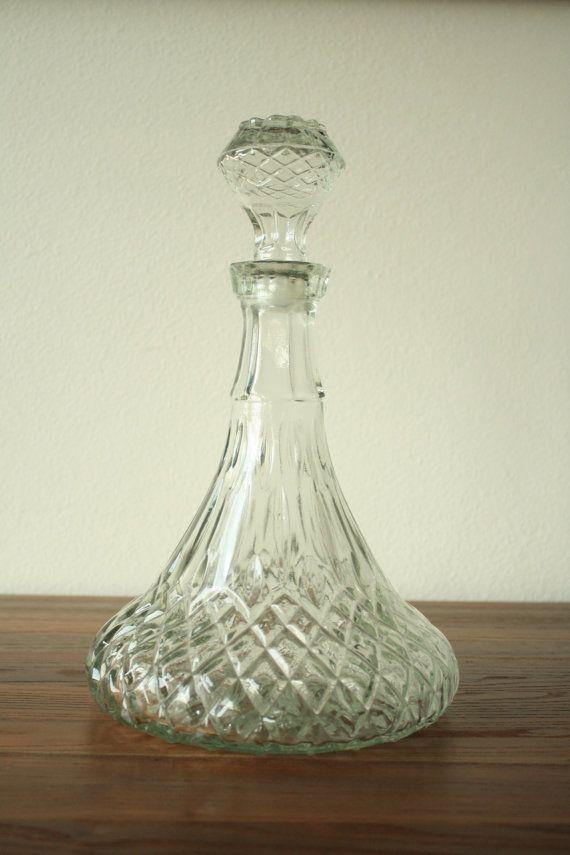 Vintage bottle vases bottle for Liquor bottle vases