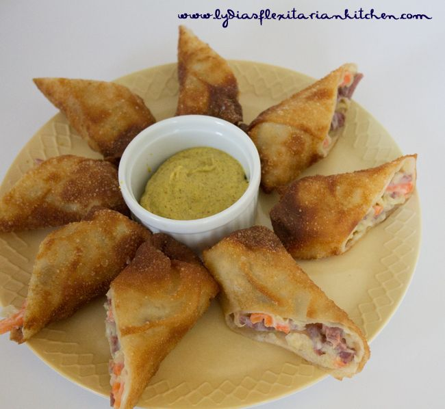 Corned Beef & Cabbage Egg Rolls - Lydia's Flexitarian Kitchen # ...