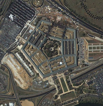 The September 11th Attack on the Pentagon (Arial view after the attack)